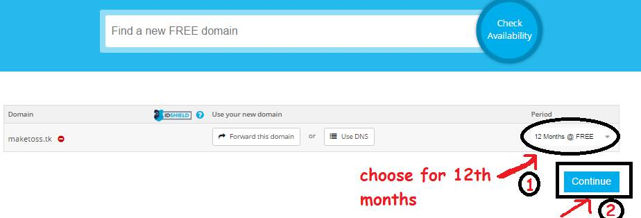 how to register free domain name for website