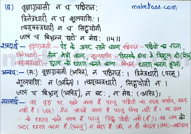 Sanskrit class 8 chapter 15 hindi translation